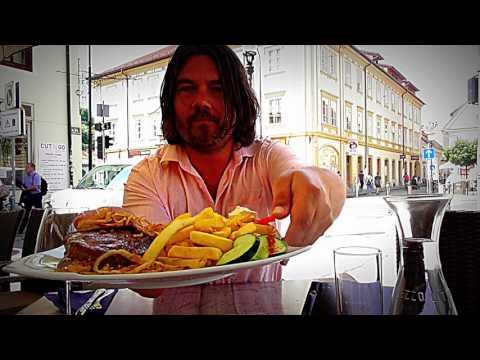 Riviera restaurant Ljubljana Slovenia/ dragon bridge travel food challenge grill