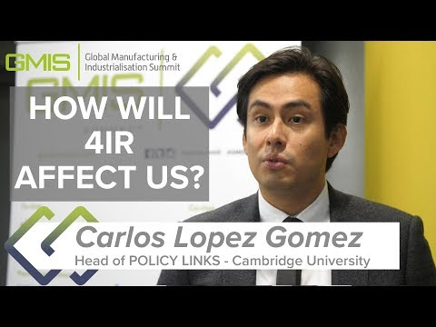 Dr. Carlos Lopez Gomez explains how the Fourth Industrial Revolution will impact our lives