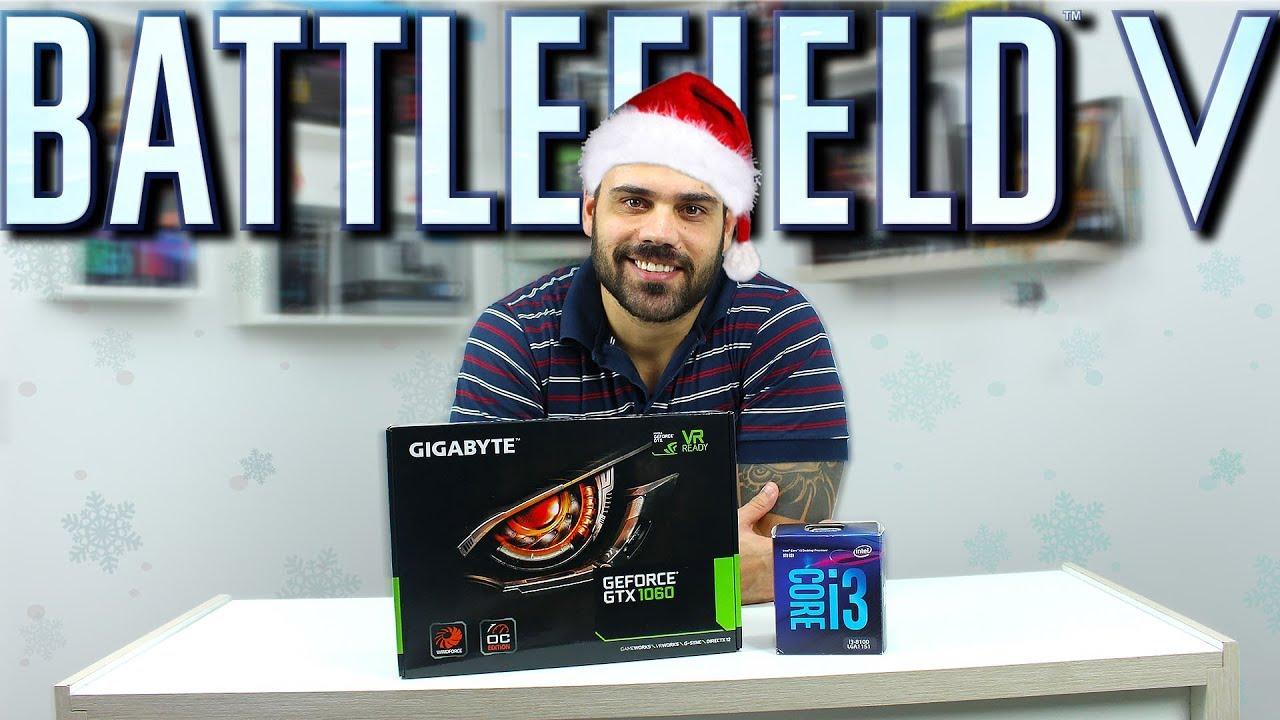 É Esse Seu PC GAMER de NATAL | BF 5 | GTX 1060 3GB I3 8100