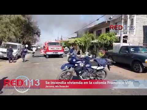 VIDEO Se incendia vivienda en la colonia Francisco Villa en Jacona