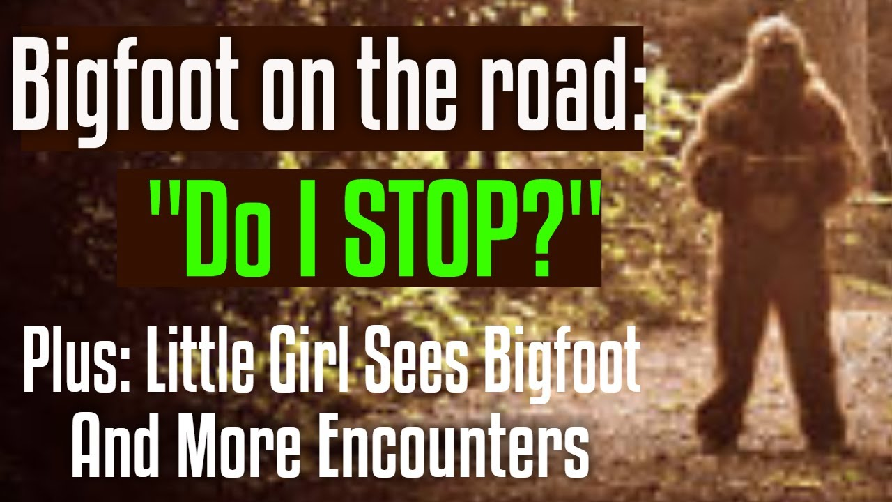 Little Girl Sees a Bigfoot Outside Tent & Anthropologist Almost Stops for Squatting Bigfoot on Road