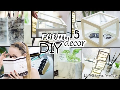 5 DIY Room Decor and Desk Organization Ideas – Art Deco Style