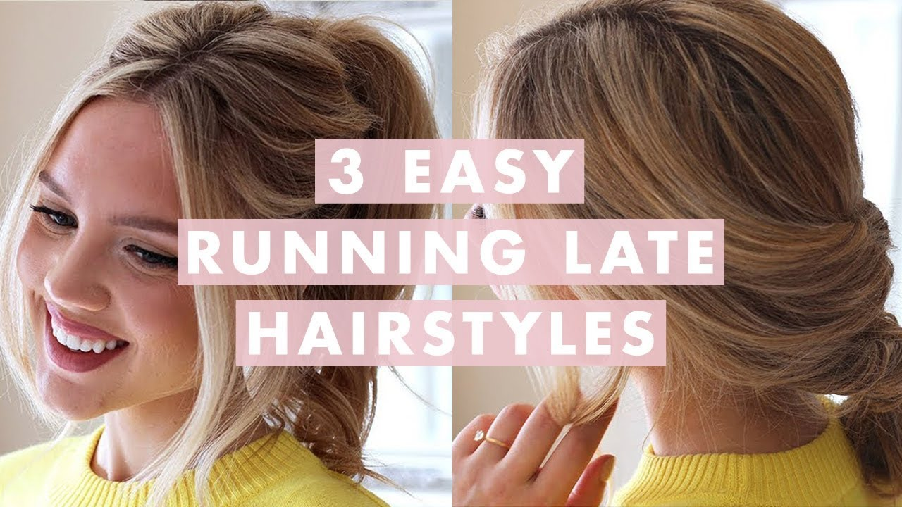 3 easy running late hairstyles - youtube