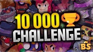 10 000 PUCHARKÓW CHALLENGE  BRAWL STARS ⭐