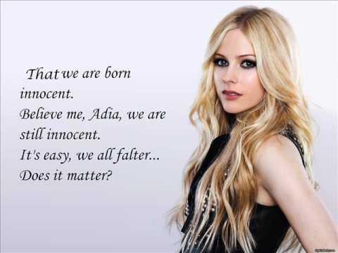 Avril Lavigne - Adia (lyrics on screen).wmv