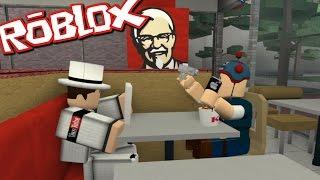 Roblox KFC TYCOON!! DANTDM EATS KFC WITH BIGGRANNY000!!