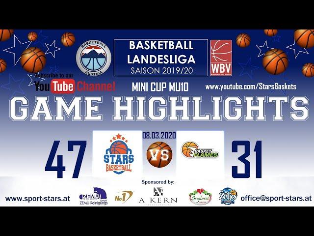 BC DSG Gumpendorf - STARS - Basket Flames  MU10 MINI CUP 47:31