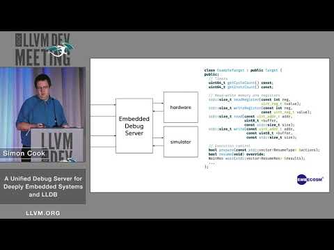"""2019 LLVM Developers' Meeting: S. Cook """"A Unified Debug Server For Deeply Embedded Systems And LLDB"""""""