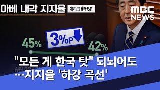"""""""모든 게 한국 탓"""" 되뇌어도…지지율"""