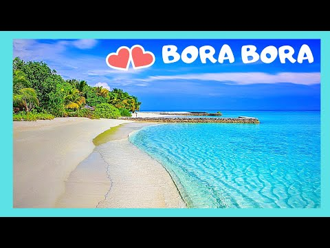 BORA BORA, the waves and the colorful waters of the Pacific Ocean (French Polynesia)