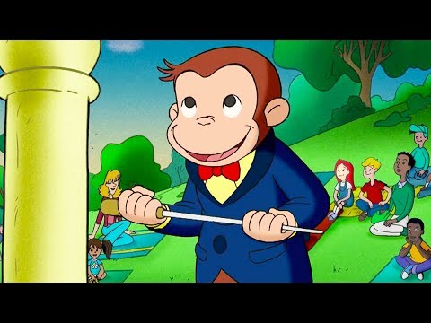 Curious George 🐵Curious George Beats The Band 🐵Kids Cartoon 🐵Kids Movies 🐵Videos for Kids