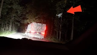 we followed the trucks on clinton road with a drone... (you wont believe what happened...)