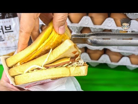 Korean Street Food | Toast in Pusan National University, Busan Korea