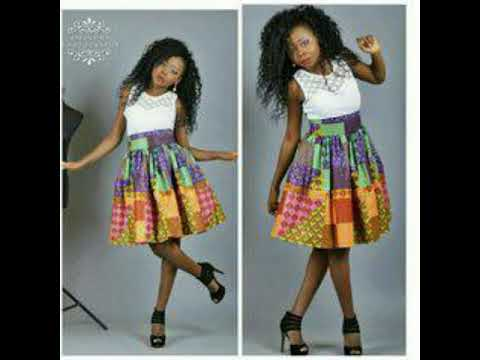 Jupe Taille Haute En Pagne Africain