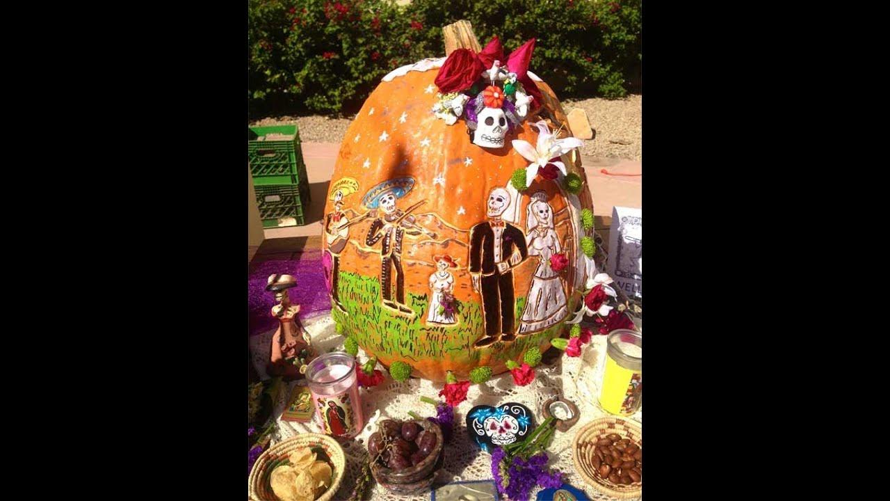 Dia de los muertosday of the dead pumpkin carved by linda dia de los muertosday of the dead pumpkin carved by linda rettinger lmt pronofoot35fo Images