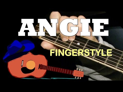 ANGIE By The Rolling Stones: Fingerstyle Guitar Cover + TAB By GuitarNick