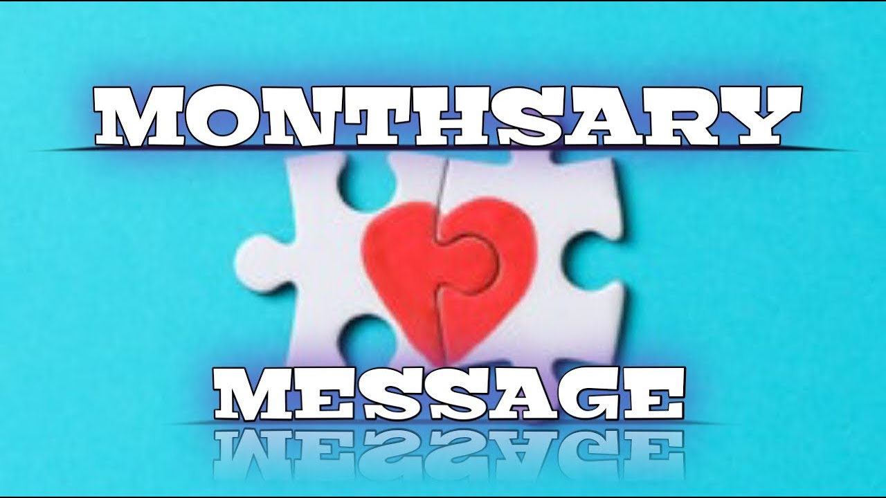 Monthsary Message | Long Distance Relationship - YouTube