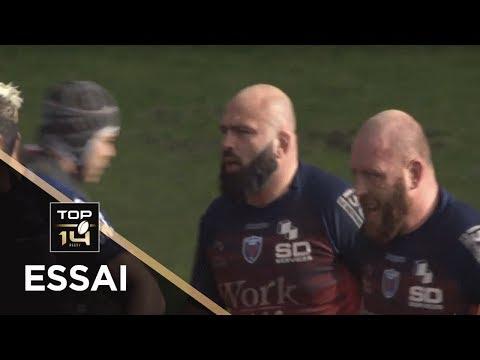 TOP 14 - Essai Mike TADJER (FCG) - Toulouse - Grenoble - J15 - Saison 2018/2019