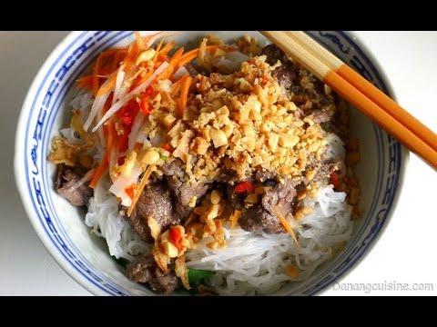 Vietnamese Beef Noodle Salad (Bun Bo Nam Bo / Bun Bo Xao) - 102Tube - Kênh video tổng hợp Việt Nam hay nhất