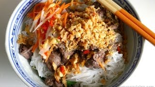 Vietnamese Beef Noodle Salad (bun Bo Nam Bo / Bun Bo Xao)