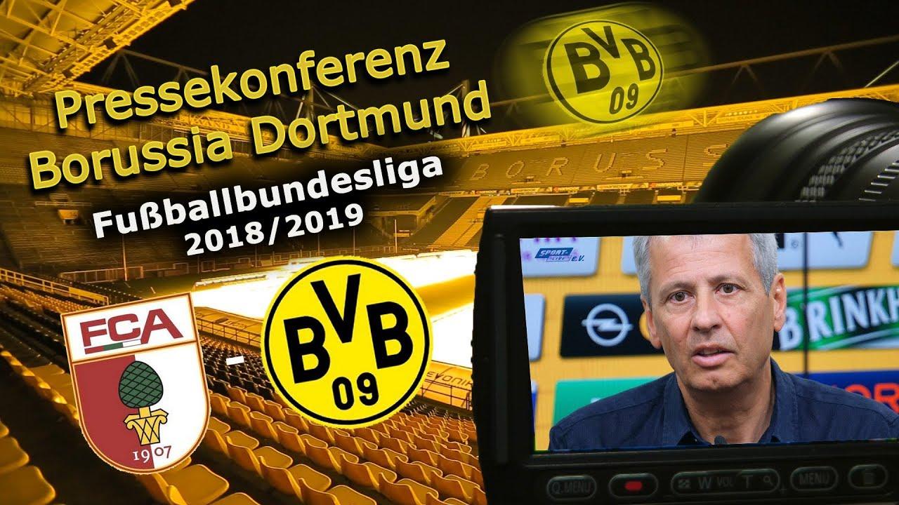 Pressekonferenz mit Lucien Favre vor dem Spiel beim FC Augsburg