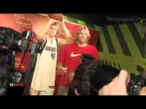NBA-Star Dirk Nowitzki bei Madame Tussauds in Berlin