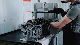 """Ремонт двигателя в Автоцентре """"Бизон"""" видео"""
