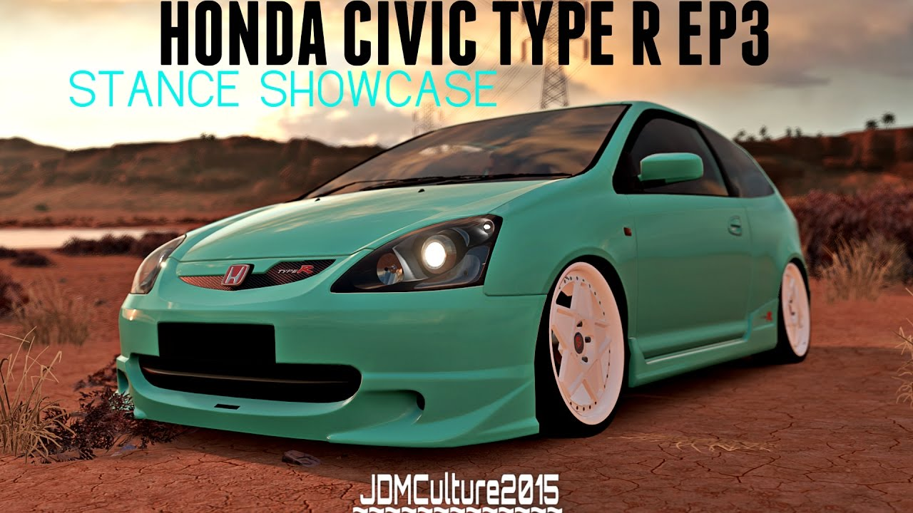 forza horizon 3 honda civic type r ep3 stance showcase youtube. Black Bedroom Furniture Sets. Home Design Ideas