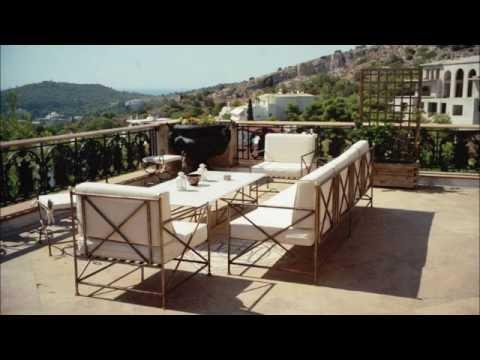 Metal Outdoor Sofa Greece Iron Wrought