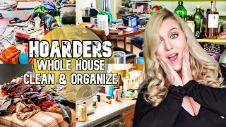 HOARDER!!! WHOLE HOUSE CLEAN WITH ME CLEANING MOTIVATION | CLEANING MARATHON | LIVING WITH CAMBRIEA