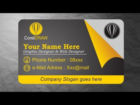 CorelDRAW Tutorials - Business Card Design Inspiration