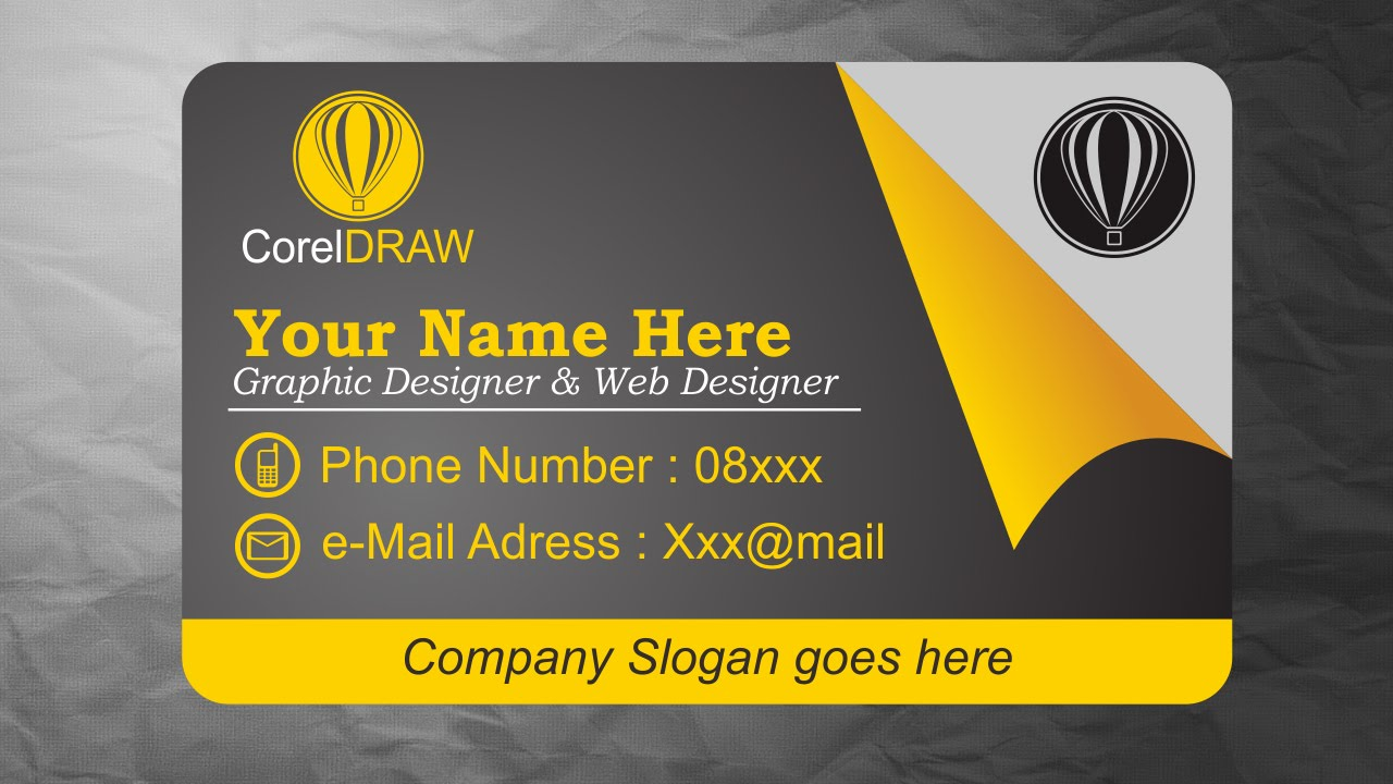 coreldraw tutorials business card design inspiration youtube - Business Card Design Inspiration