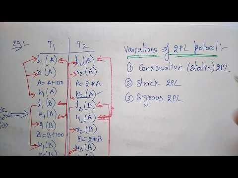 two phase locking example | DBMS