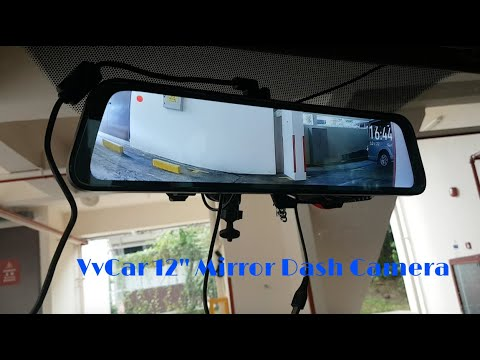 VVCAR 12' Mirror Dash camera with Reverse Camera | REVIEW & UNBOXING