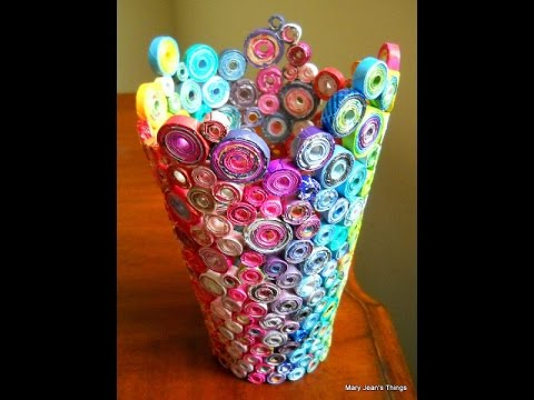 30 Awesome DIY Ideas using Old Magazines - YouTube