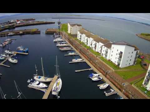 Ardrossan harbour high altitude flying and some fun