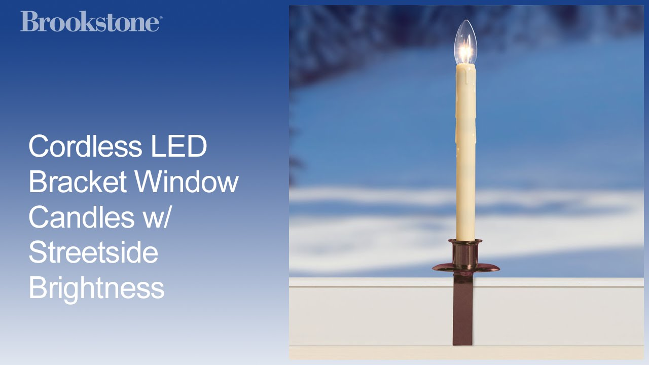 Battery operated window candles with timer - Cordless Led Bracket Window Candles W Streetside Brightness