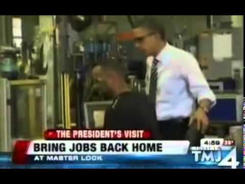 At Obama Event, Master Lock CEO Jokes About Outsourcing Jobs