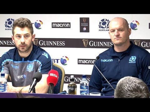 Scotland v Ireland - Gregor Townsend & Greig Laidlaw Post Match Press Conference - Six Nations 2019