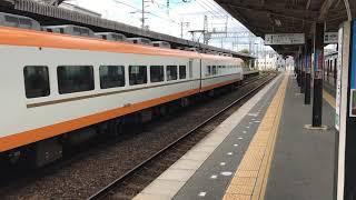 道明寺駅 大阪阿部野橋行特急通過