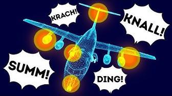 Was die Geräusche in einem Flugzeug bedeuten