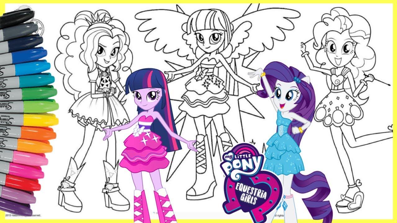 mewarnai kuda poni my little pony equestria girls