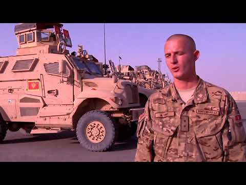 Montenegro in Afghanistan, Interview+broll package