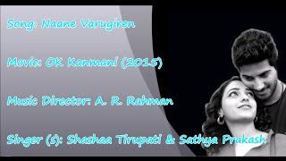 Naane Varugiraen - OK Kanmani - Karaoke tamil song - Rahman, Mani Ratnam | HQ HD |