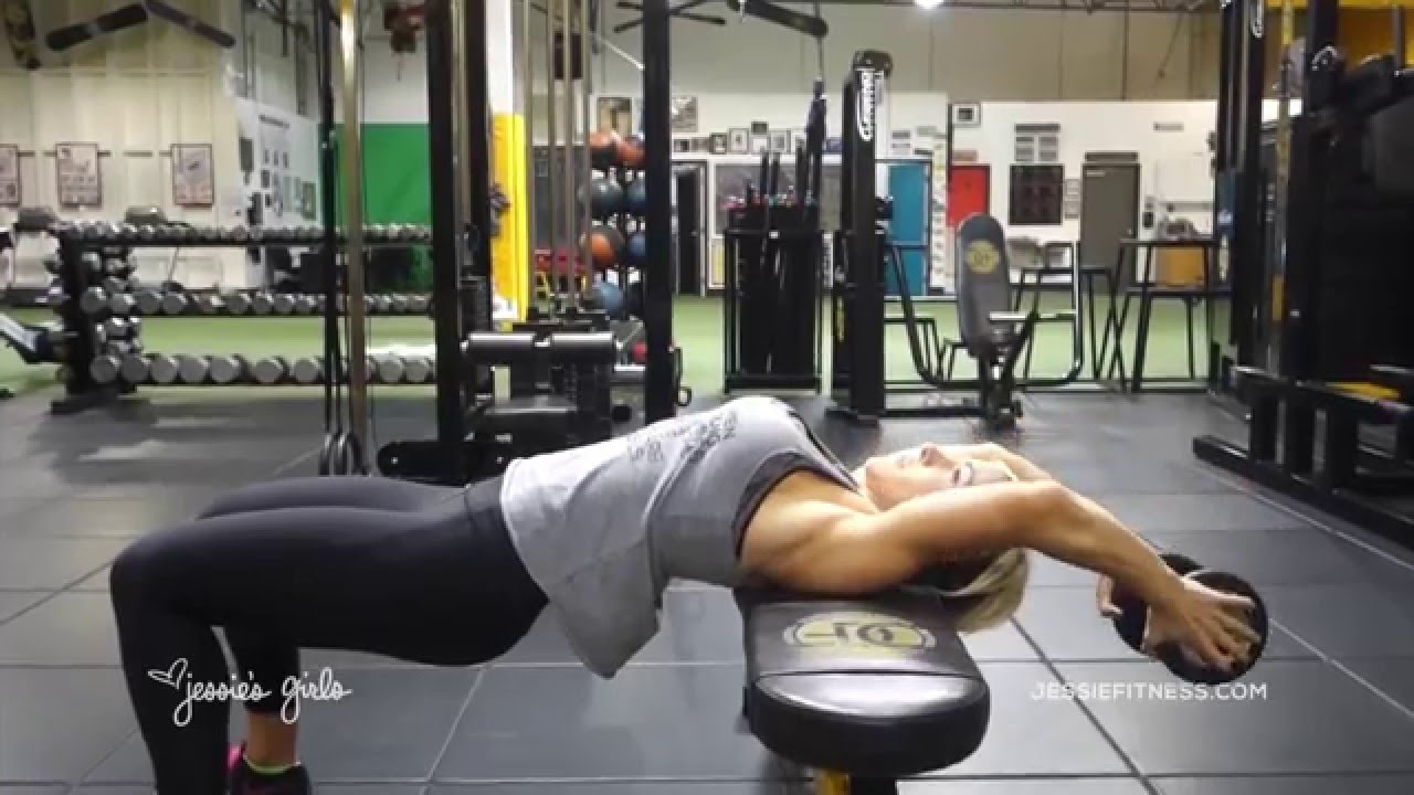 Jessie's Girls Training Programs: Dumbbell Pullover - YouTube