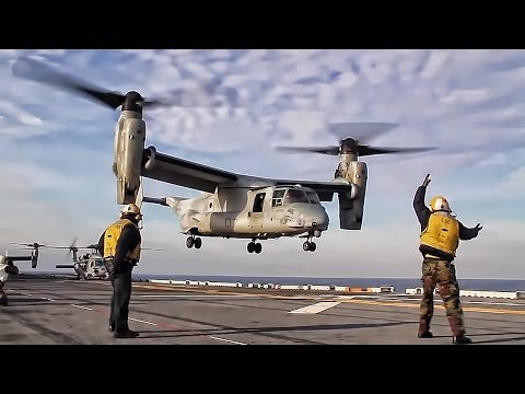 MV-22 Osprey Takeoff From Carrier Flight Deck