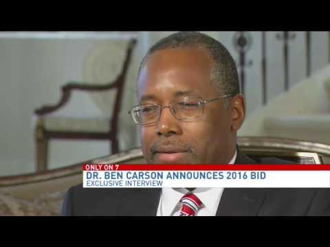 Dr. Ben Carson announces 2016 presidential bid