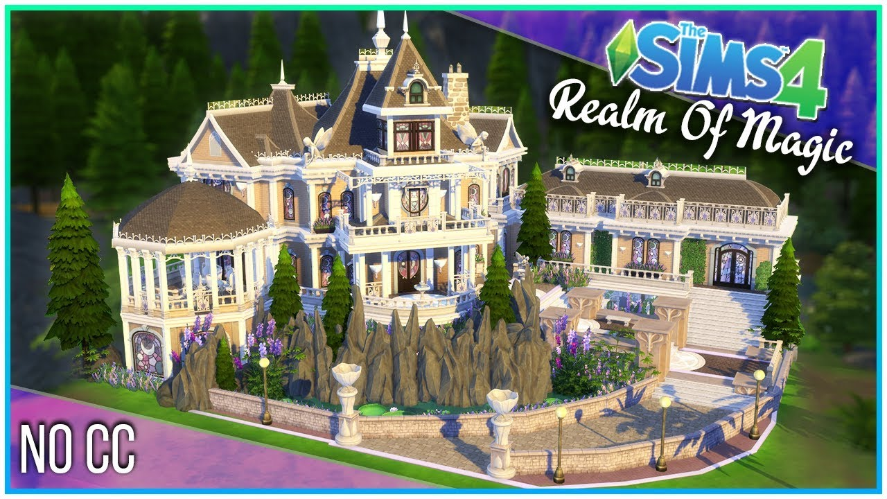 Sims 4 Speed Build - Magic Manor [Realm of Magic!] | Kate Emerald