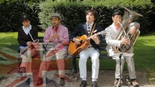 Kuricorder Quartet in London - Japanese folk band