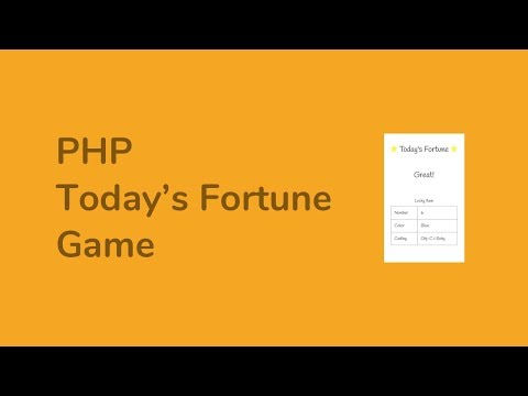 PHP Tutorial for Beginners - Today's Fortune Game - ( post, array, random, shuffle )